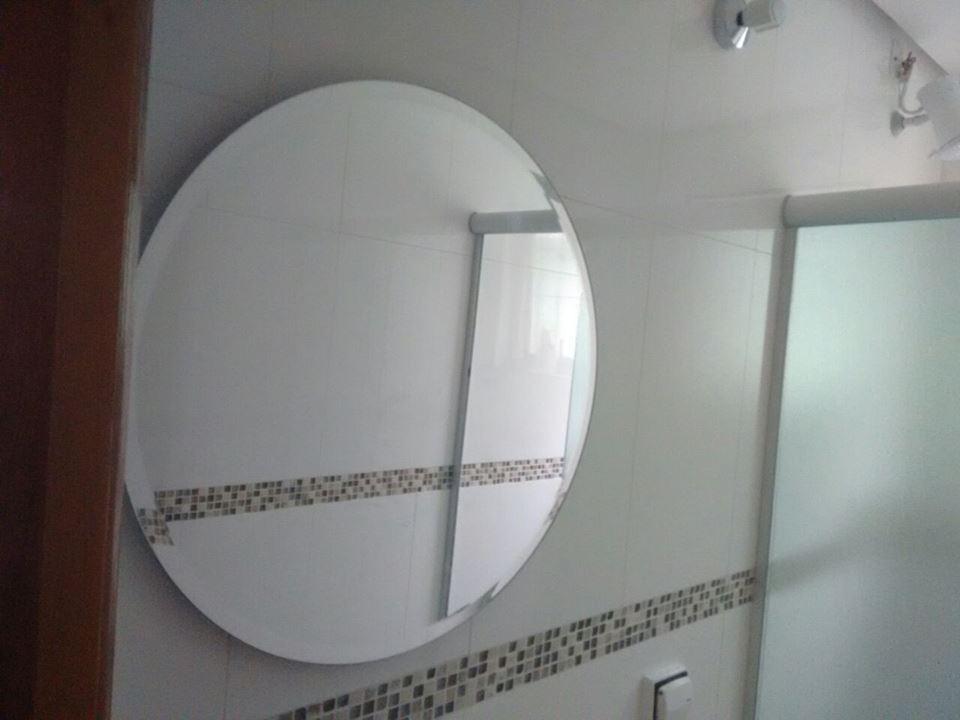 Espelho Redondo Com Bisotê