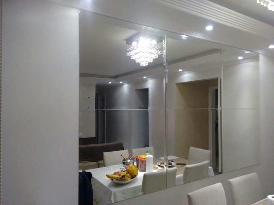 Montagem De Espelhos Sala De Jantar
