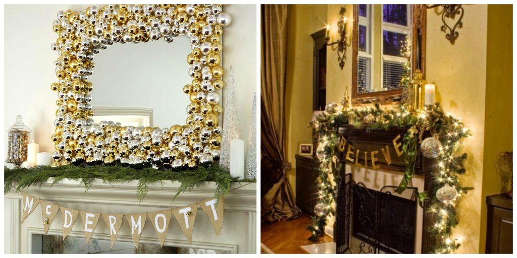 bordas dos espelhos decorada