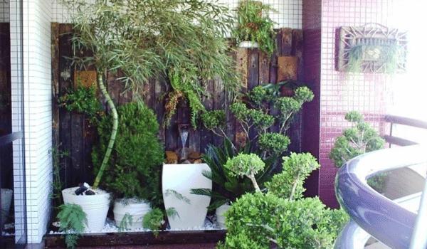 varanda zen fonte de agua
