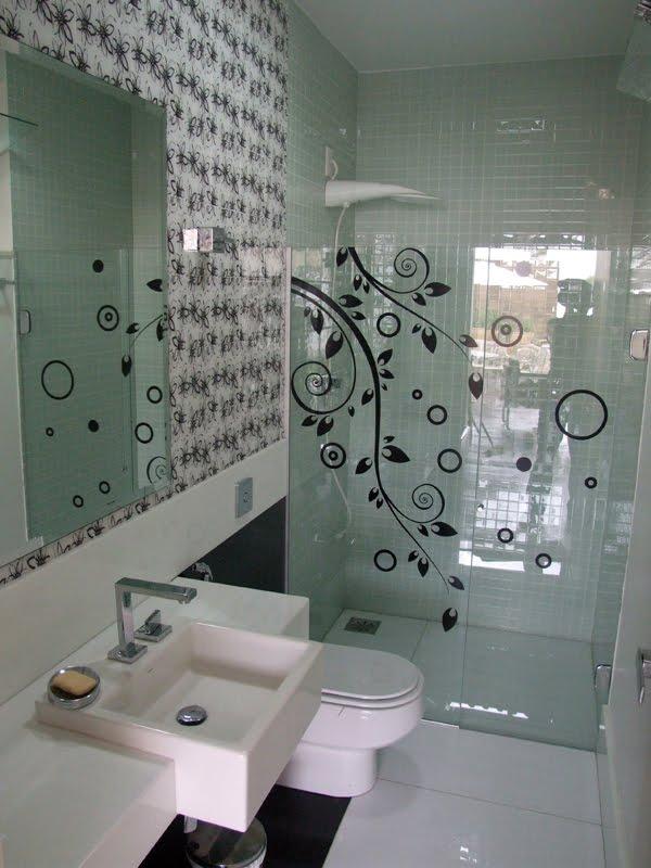 vidro na decoracao banheiro 1
