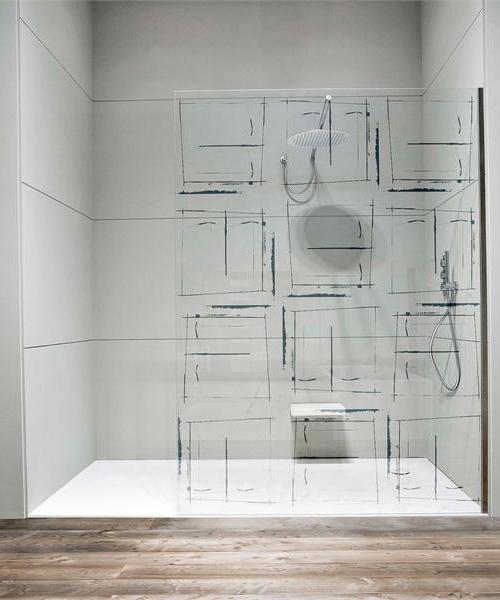 vidro na decoração banheiro