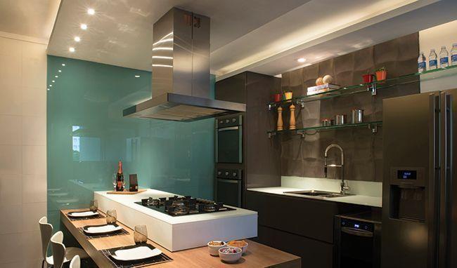 vidro na decoração cozinha