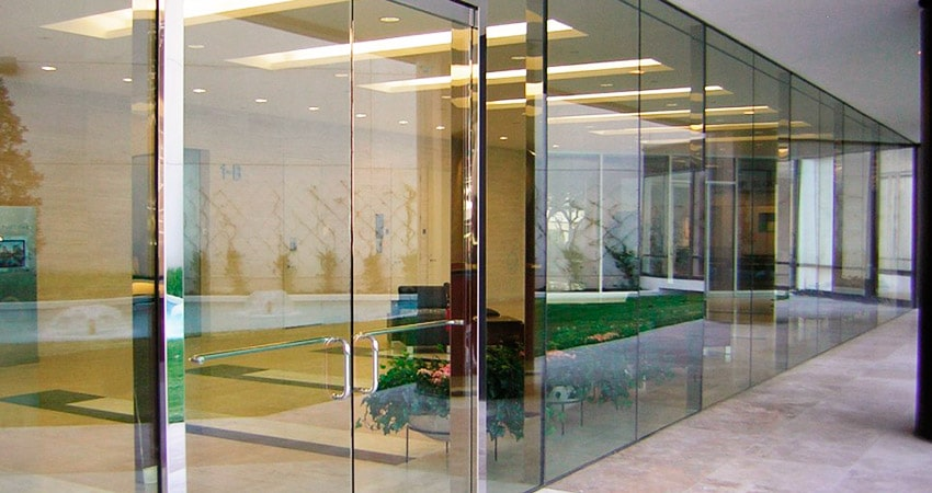 vidro na decoracao portas