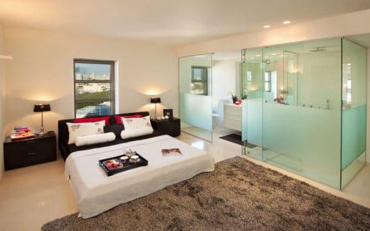 vidro na decoração quarto