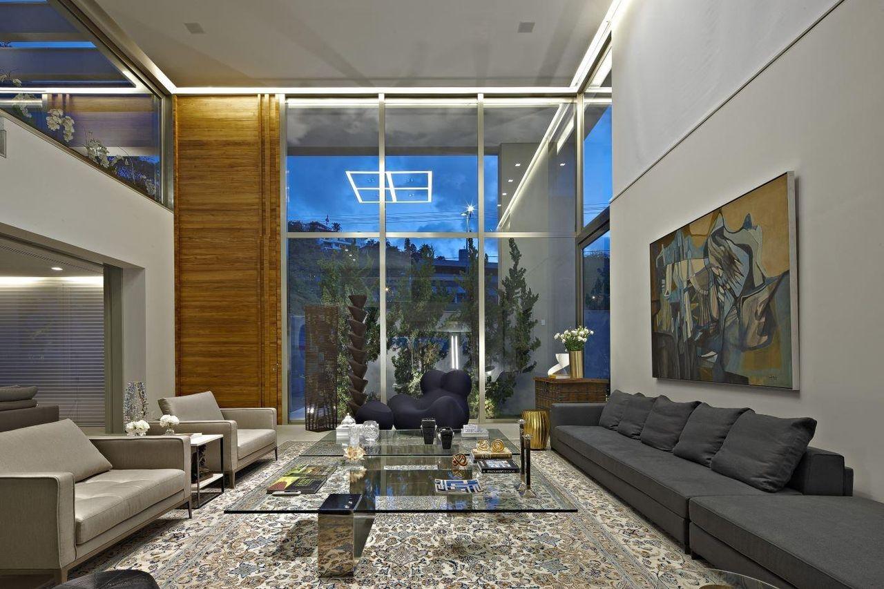 vidro na decoração sala