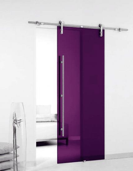 porta de vidro colorida