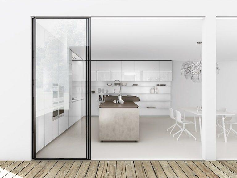 porta de vidro minimalista